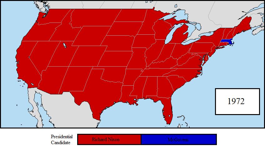 Electoral College Map College - Us electoral map 1972