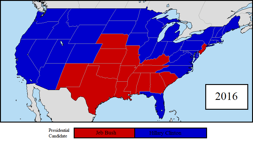 2016 US Presidential Election 1st Prediction Map by LouisTheFox on ...