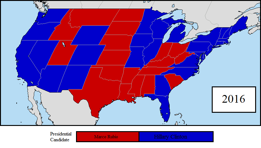 2016 US Presidential Election 2nd Prediction Map by LouisTheFox on