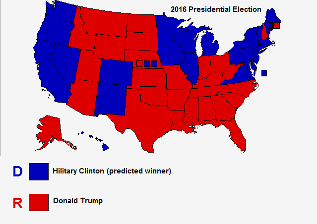 My 2016 Presidential Election Electoral Map Prediction Steve