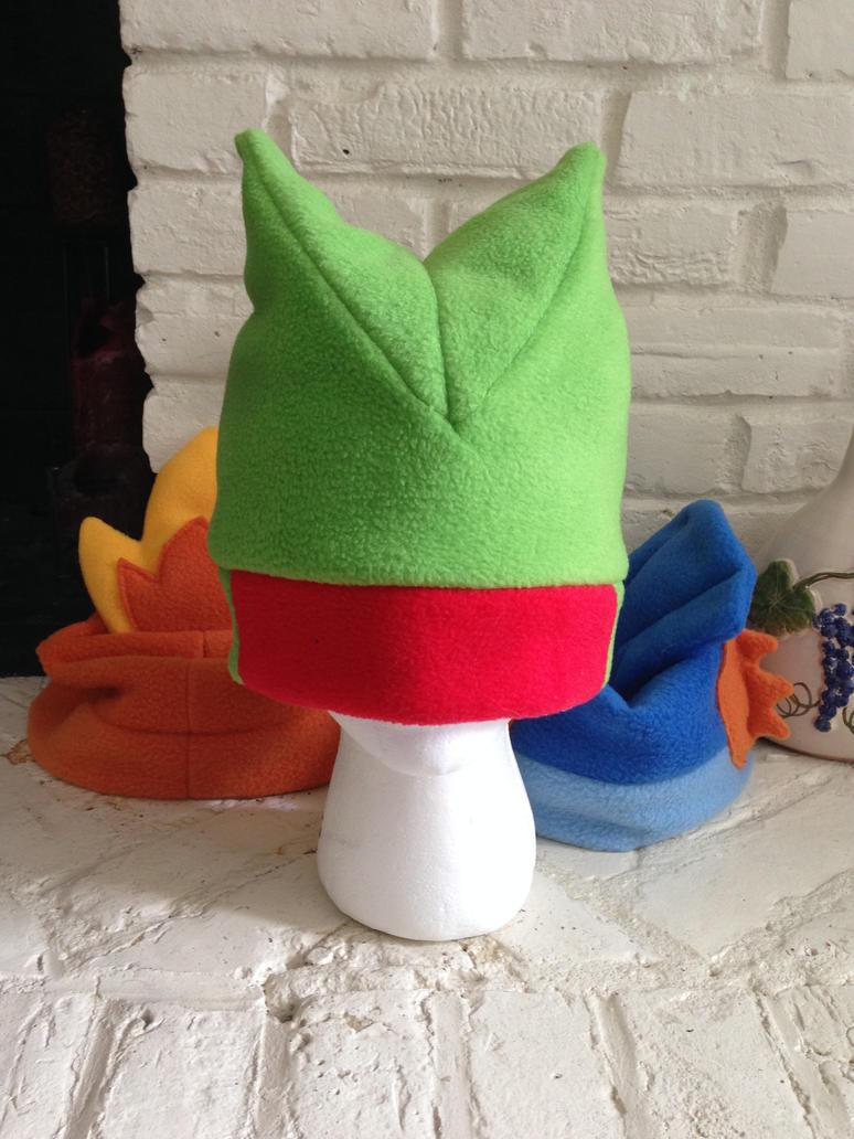 Treecko Fleece Hat by GolemGeekery