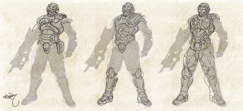 Soldado futurista Bocetos