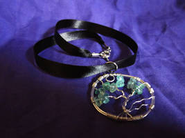 Apatite Tree of Life Pendant by SapphireIceAngel