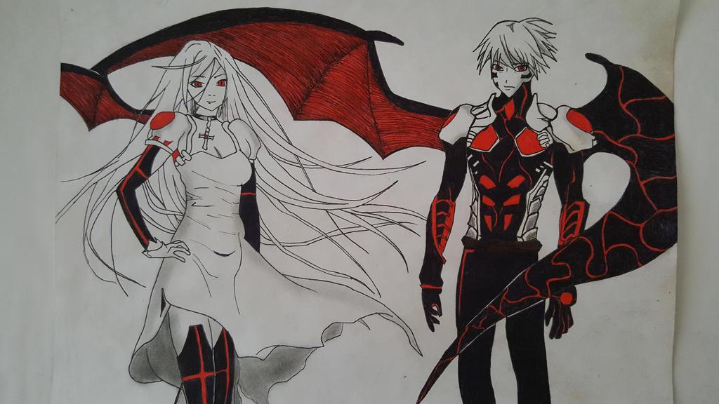 [Rosario to Vampire] Tsukune and Moka by TheTanlor