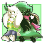 Asriel and Ralsei ~ Always a Serial by MalachiMoet