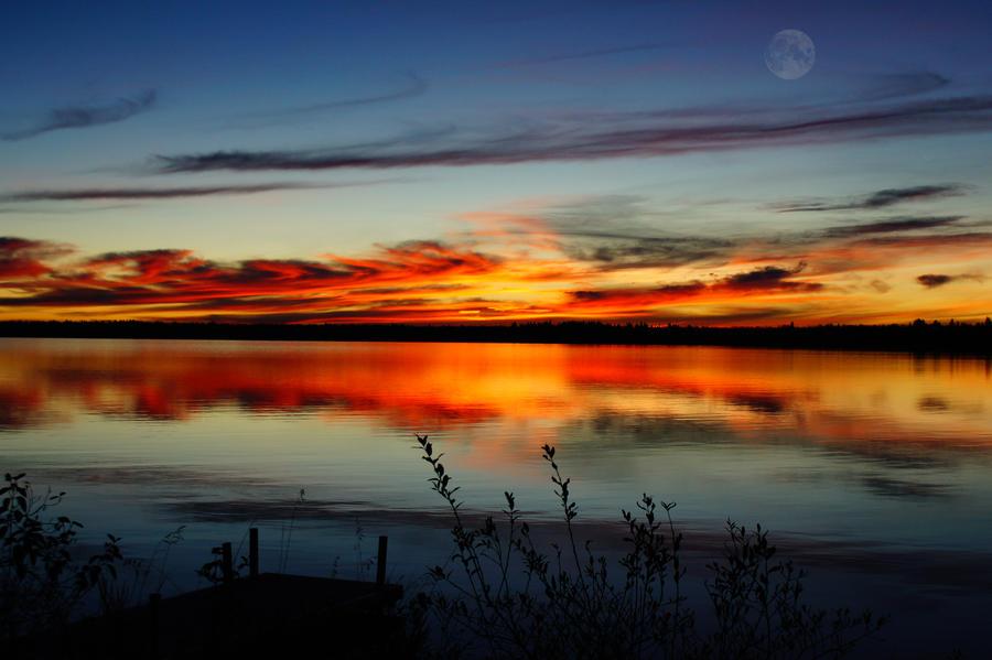 sunrise on turtle lake sask by scotchy1ca