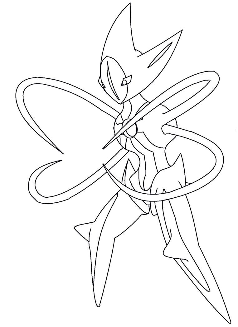 deoxys coloring pages deoxys attack form line art by kawaii769 on deviantart