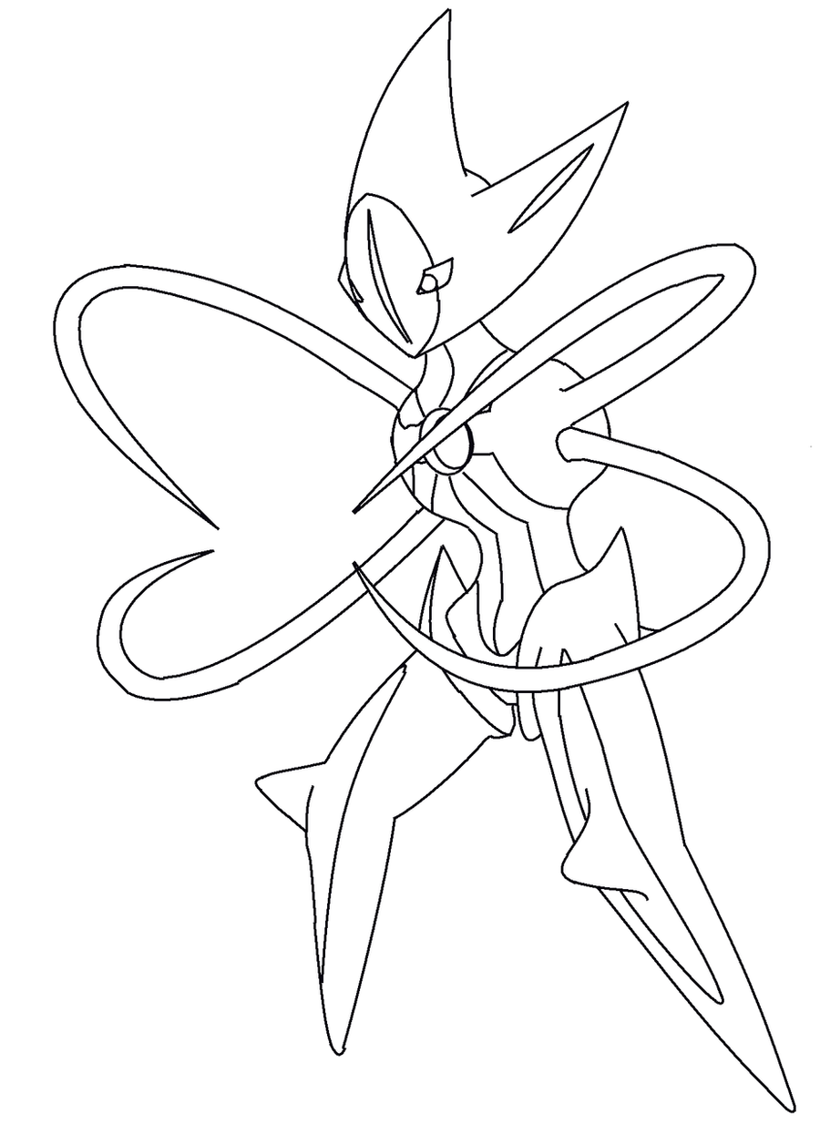 deoxys maze coloring pages - photo#16