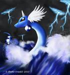 Dragonair caught in a storm
