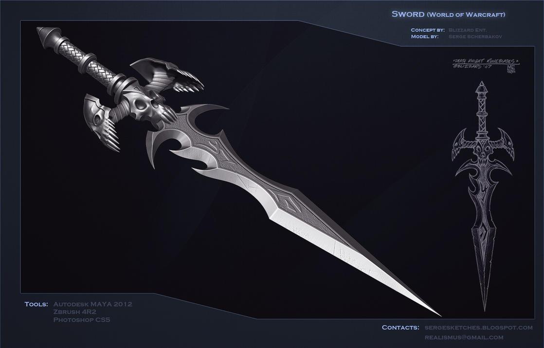 Death Knight Runeblade Sword By Sergescherbakov On Deviantart