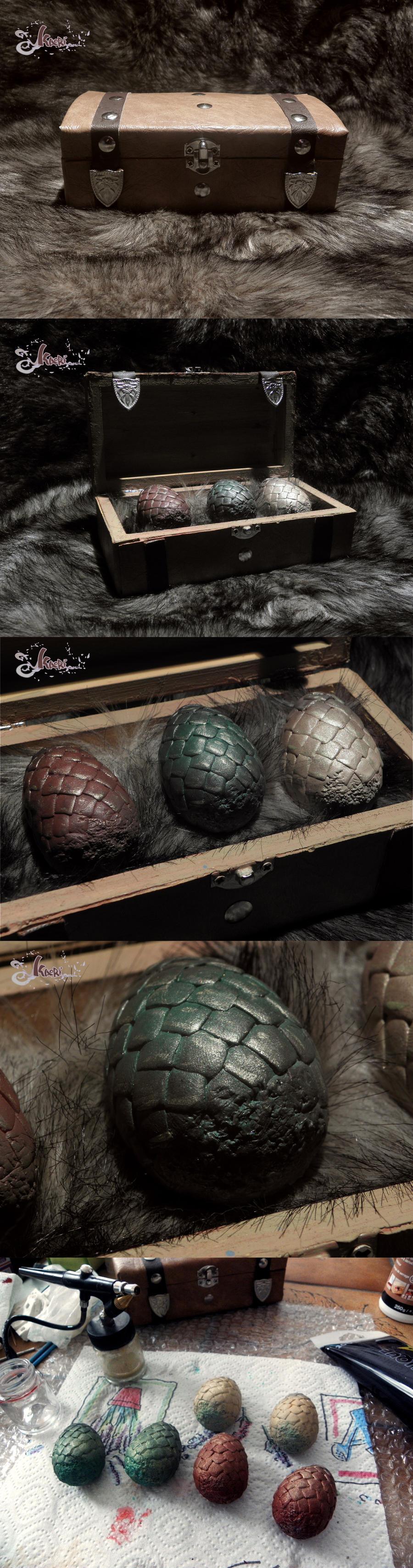 Game of Thrones Dragon Eggs - Handmade by K-a-o-r-i