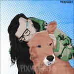 Skrillex and dog by PixyDee123