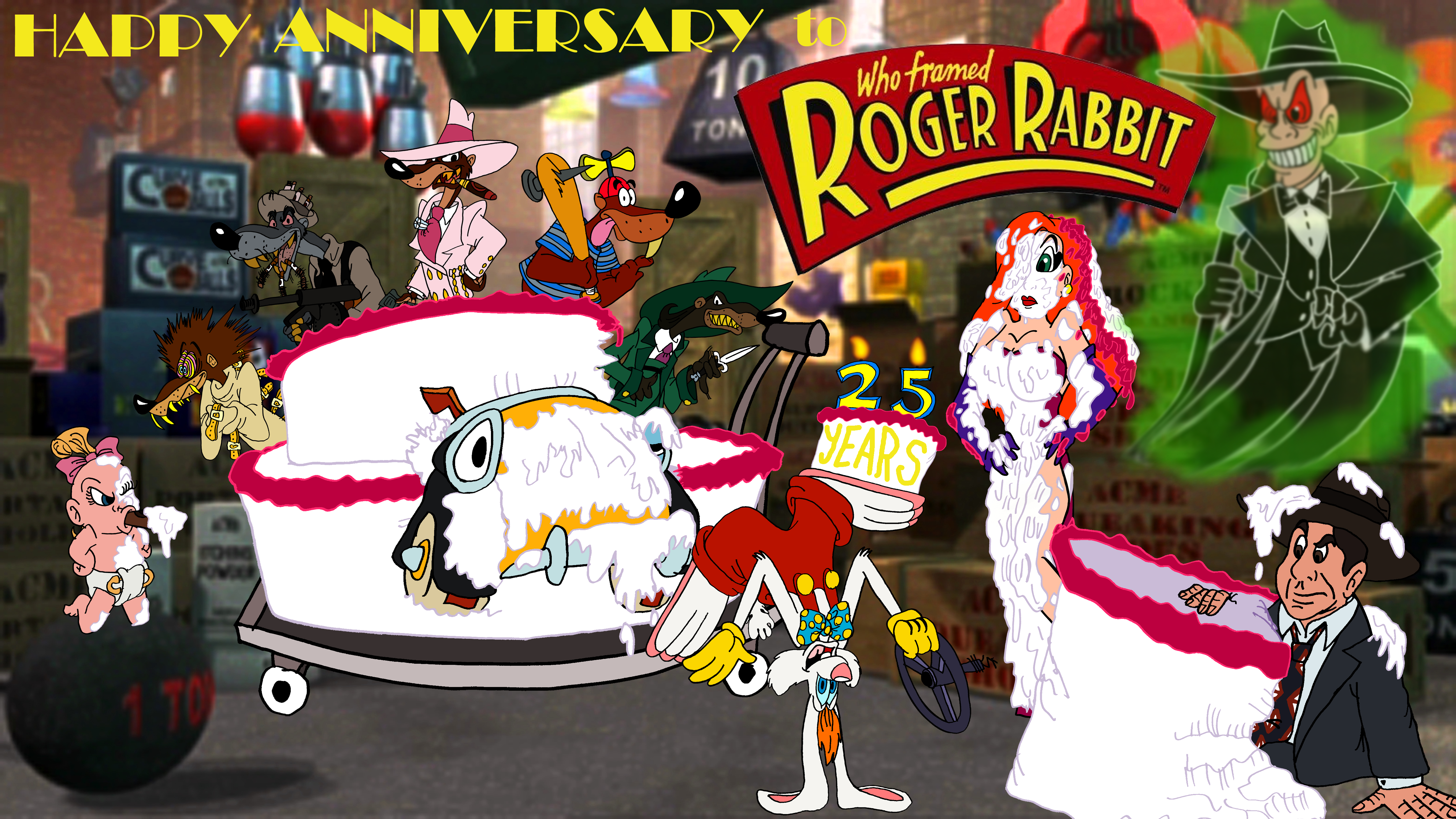 Happy 25th Anniversary, Roger Rabbit! by AverageJoeArtwork on DeviantArt