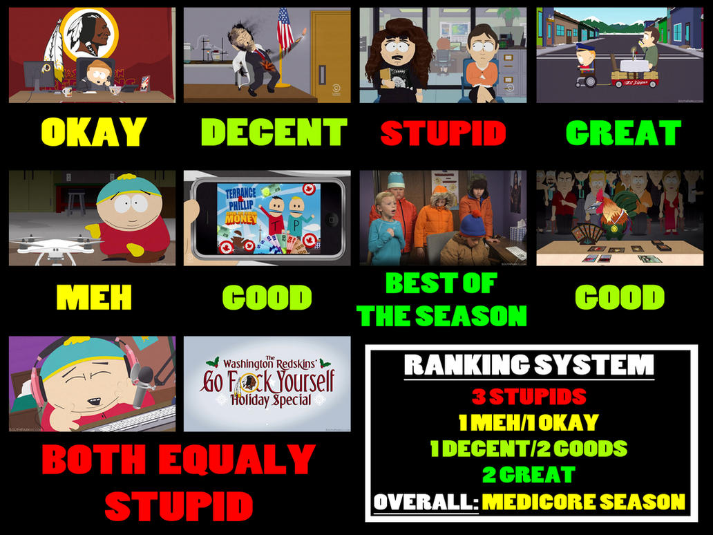 South Park Season 18 Scoreboard by AverageJoeArtwork