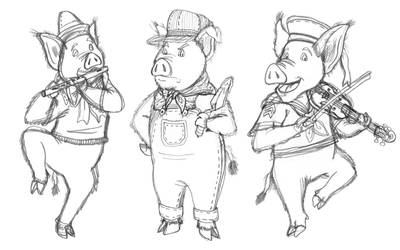 Live-Action Three Little Pigs by AverageJoeArtwork
