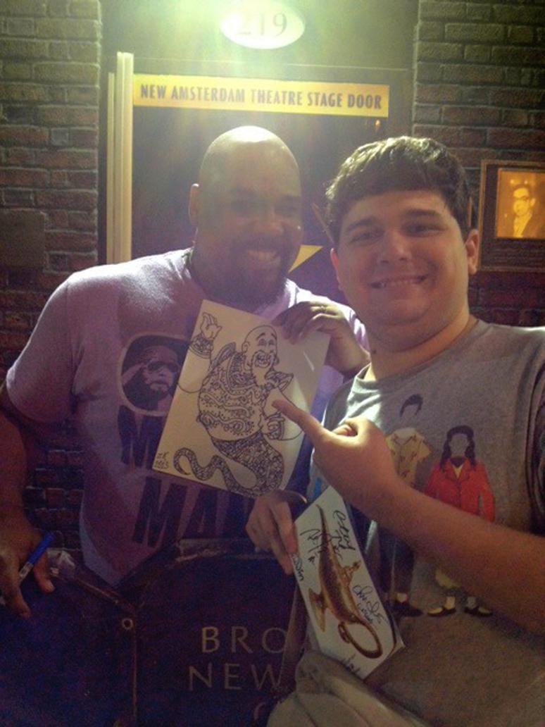 Me and James Monroe Iglehart! by AverageJoeArtwork