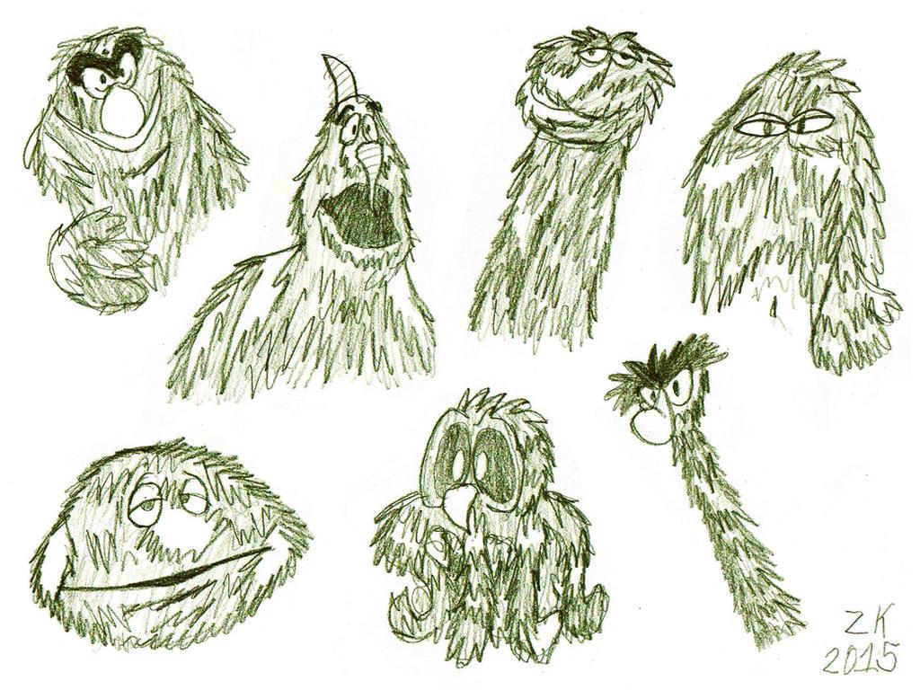 original Turkey Hollow monsters by AverageJoeArtwork