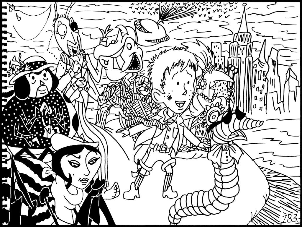 james and the giant peach coloring pages - james and the giant peach free coloring pages