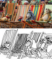 Hundred Acre Beach Day by AverageJoeArtwork