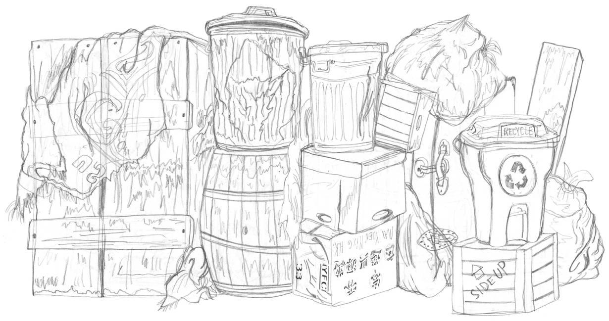 Sketch Ame Street Oscar S Trash Can By Averagejoeartwork On
