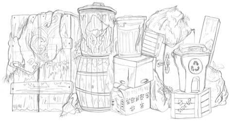 Sketch-ame Street: Oscar's Trash Can by AverageJoeArtwork
