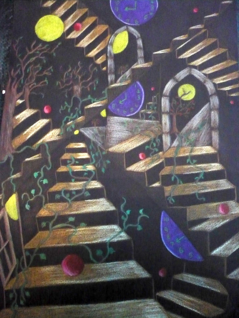 Abstract Stair Maze By Shirls Art ...