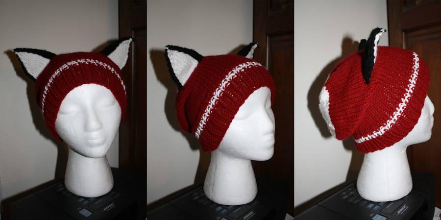 Custom Color Fox Hat Commission by itsthekitsunekid