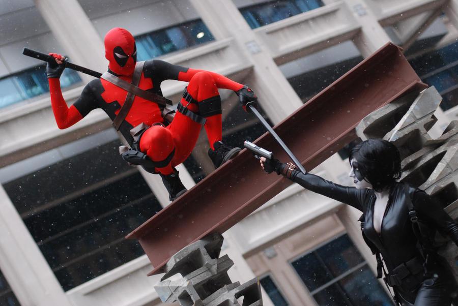 Deadpool Vs Domino by itsthekitsunekid