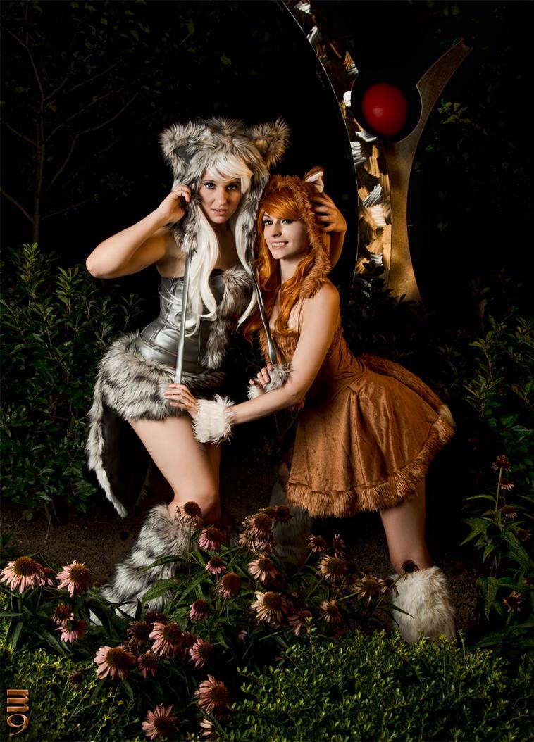 The Wolf and the Fox by itsthekitsunekid