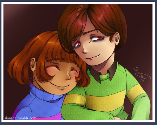 Undertale Chara and Frisk by Issane on DeviantArt