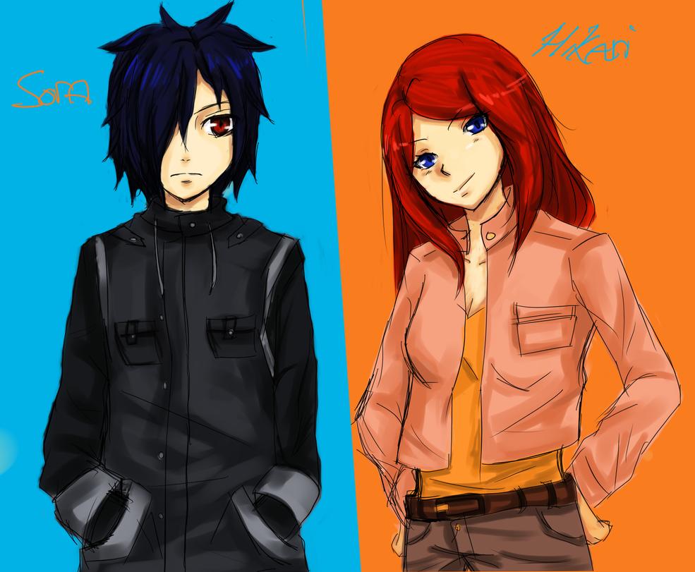 Sora And Hikari by inazumafan11
