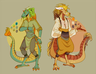 Anthro-dragons adopts#19 [closed] Auction by Medekhgui
