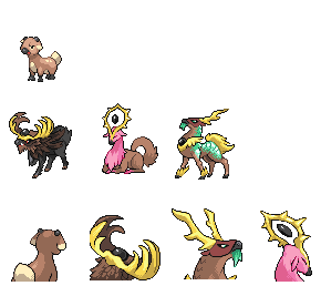 Stantler-fake evolutions by x-sky300