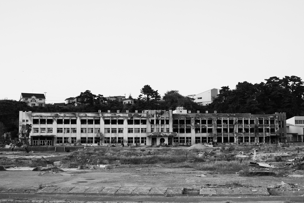 Ishinomaki Elementary School. After the tsunami