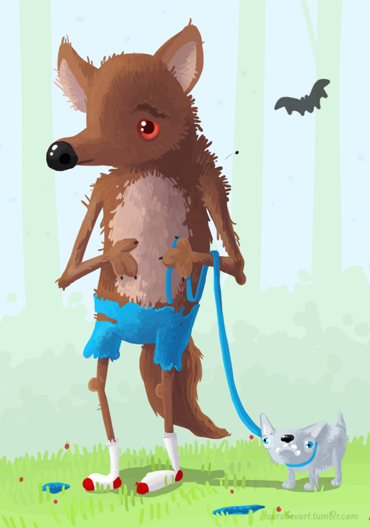 Werewolf - Drawlloween by LauraBev