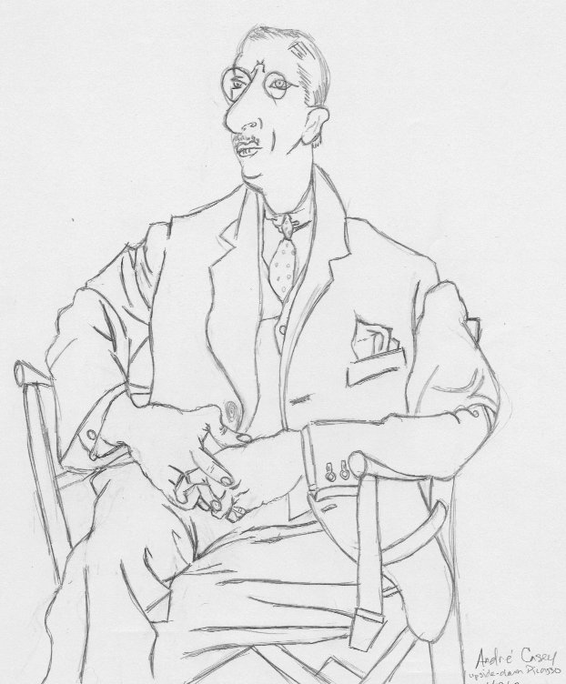 Line Drawing Upside Down : Exercise upside down drawing of igor stravinsky by