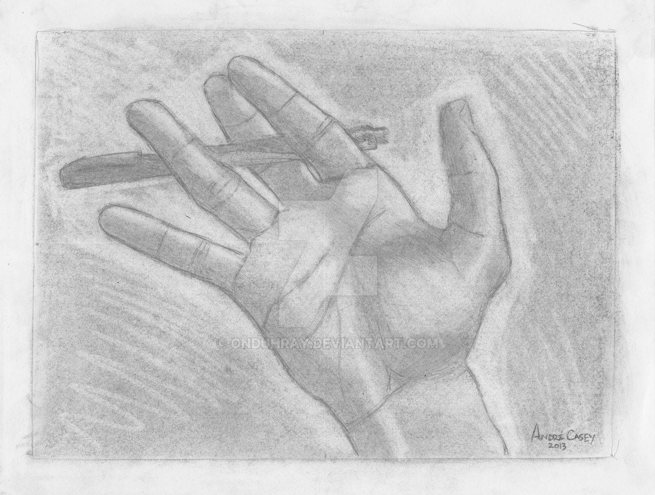 Exercise: Modified Contour Drawing - Hand by onduhray on DeviantArt