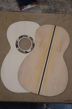 Parlour Guitar Build - Back Strip