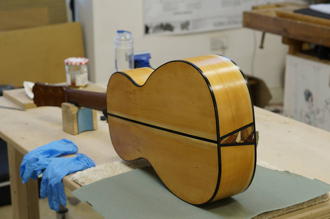 Parlour Guitar - Oil Finishing by Lonely-Enigma