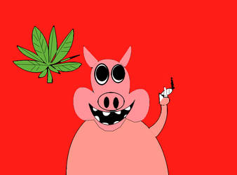 cannabis pig by sane69