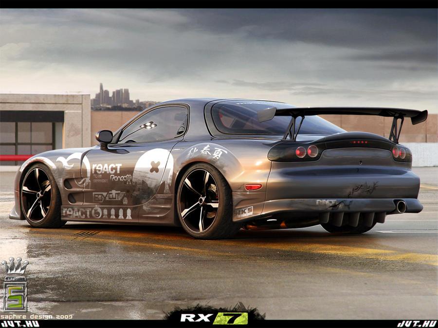 Mazda Rx7 By Saphiredesign On Deviantart