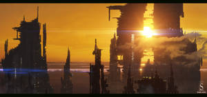 Futuristic buildings by SaphireDesign