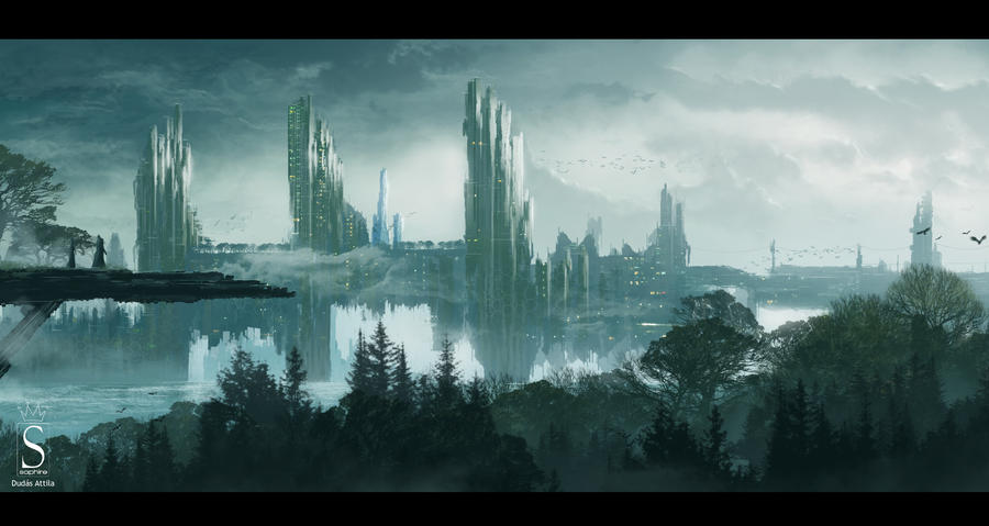 Future city by SaphireDesign