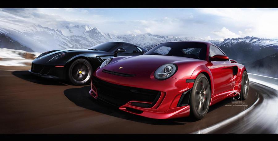 Ferrari and Porsche by SaphireDesign
