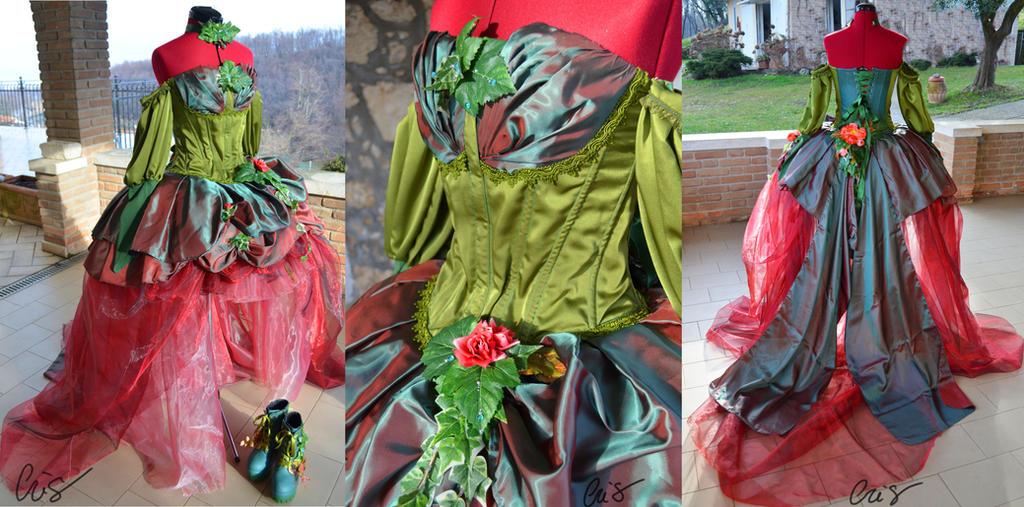 Poison Ivy inspired ballgown by CrichyRulz