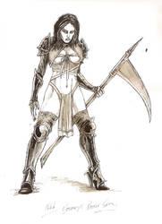 Bathory in battle gear by odingraphics