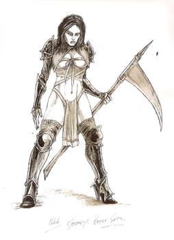 Bathory in battle gear