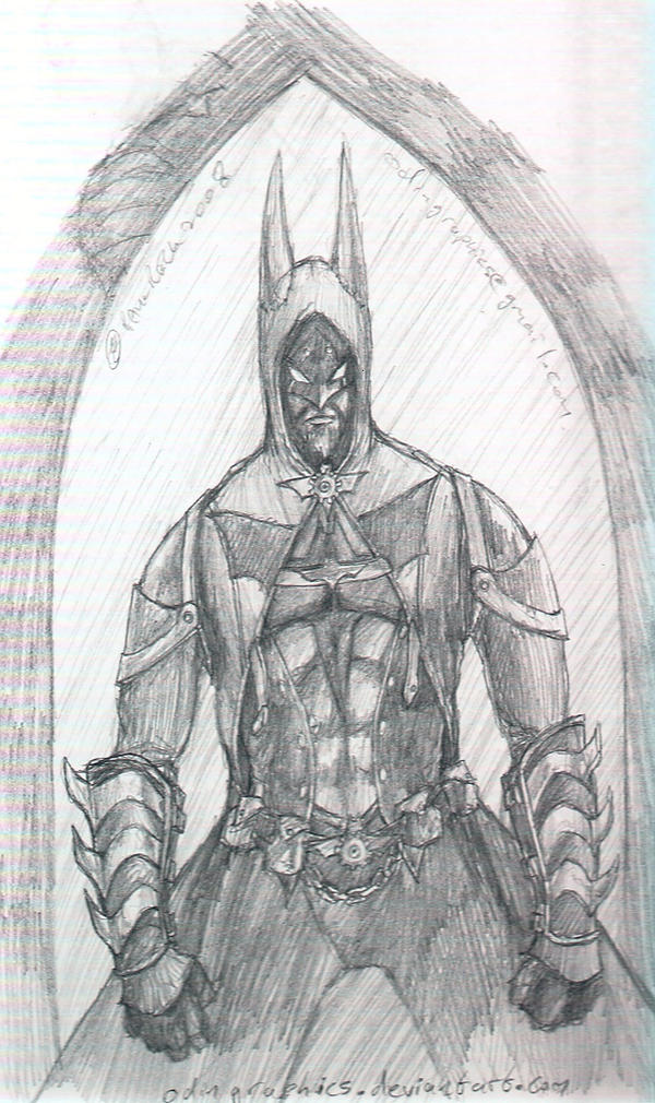 Steampunk Batman sketch by odingraphics