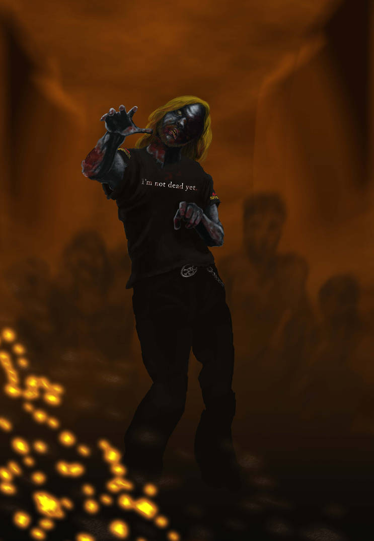 Zombie Self-Portrait by odingraphics