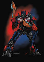 Optimus Prime Commission by odingraphics